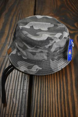 "0041 PINK DOLPHIN MEN'S ""ARTIC CAMO"" BUCKET HAT GRAY new"