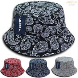 1 Dozen DECKY Paisley Bandana Bucket Hat Hats Paisley Cotton