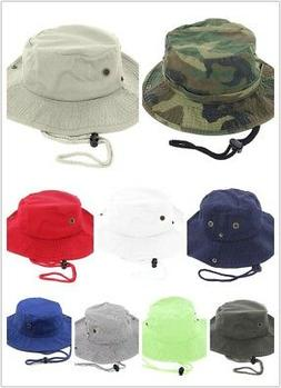 Newhattan 100% Cotton Boonie Bucket Men Safari Summer String