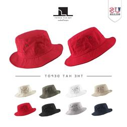 Bucket hat - 100% Cotton Canvas Packable Summer Boonie Trave
