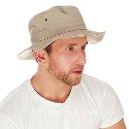 THE HAT DEPOT 100% Cotton Canvas Packable Summer Travel Buck