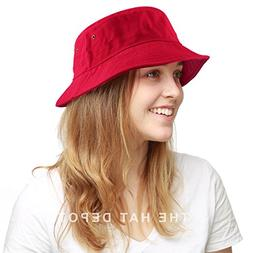 100% Cotton Canvas Packable Summer Travel Bucket Hat