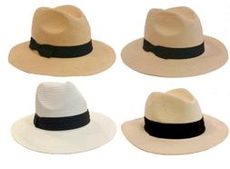 100 %  Natural Paper Fedora Panama Style Trilby Genuine Buck