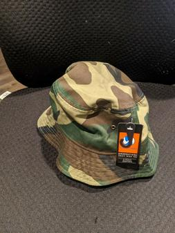 Newhattan 1500 Bucket Hat Fishermen Summer Cap Camo Woodland