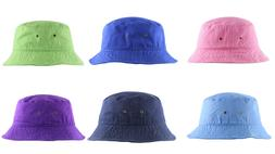 Newhattan 1500 Washed Cotton Bucket Hat Fishermen Summer Cap