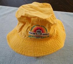 1999 Long Beach CA Blues Festival Hat Extra-Large XL Yellow