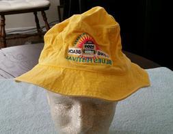 1999 Long Beach CA Blues Festival Hat Large Yellow Adams Buc
