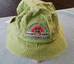 1999 Long Beach CA Blues Festival Hat Extra-Large XL Green A