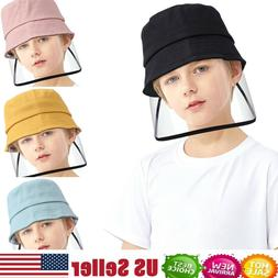 2-12 years Kids Bucket Hat Fisherman Cap Dustproof Face Shie