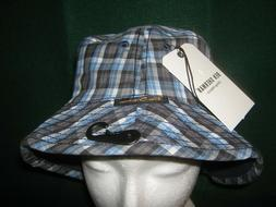 "2 n 1 Ben Sherman BLUE Plaid Bucket Hat REVERSIBLE ""100% Cot"