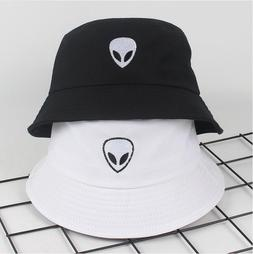2018 black white solid Alien Bucket <font><b>Hat</b></font>