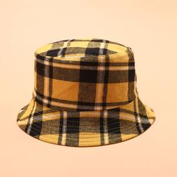 2019 Cotton Double sided Plaid <font><b>Bucket</b></font> <f