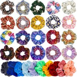 30 pcs hair scrunchies for girls women