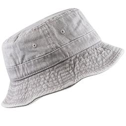 THE HAT DEPOT 300n1505 Pigment Washed Cotton Bucket Hats.13c