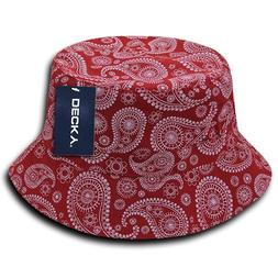 DECKY 459-PL-RED-06 Paisley Bucket Hat, Red, S_M