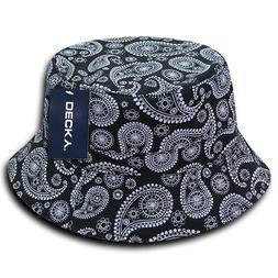 DECKY 459-PL-BLK-06 Paisley Bucket Hat, Black