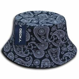 DECKY 459-PL-NVY-07 Paisley Bucket Hat, Navy
