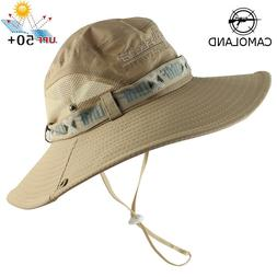 50 UPF Unisex Outdoor Safari Sun Mesh Bucket Boonie Hat UV S
