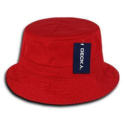 DECKY 961-PL-RED-06 Polo Bucket Hat, Red, S_M