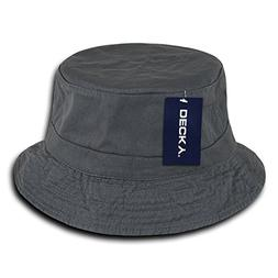 DECKY 961-PL-CHA-07 Polo Bucket Hat, Charcoal, L_XL
