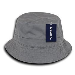 DECKY 961-PL-GRY-06 Polo Bucket Hat, Grey, S_M
