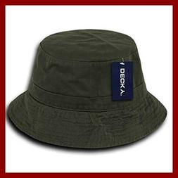 DECKY 961-PL-OLV-07 Polo Bucket Hat, Olive, L_XL