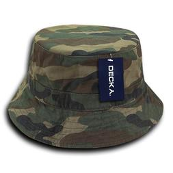 DECKY 961-PL-WDL-07 Polo Bucket Hat, Woodland, L_XL