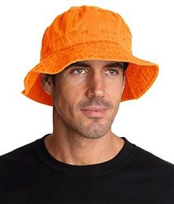 Adams Vacationer Crushable Bucket Hat VA101 - Tangerine_XL