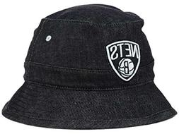 adidas Brooklyn Nets NBA All Denim Bucket Hat - M/L