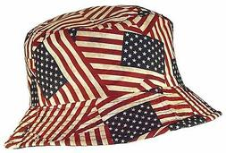 Tropic Hats Adult Americana/American Flag Lightweight Bucket