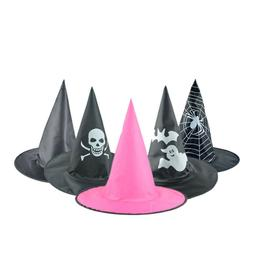 Adult Womens Black Witch Hat For Halloween Costume Accessory