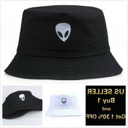 Alien Bucket Hat Cap Cotton Fishing Boonie Brim visor Sun Sa