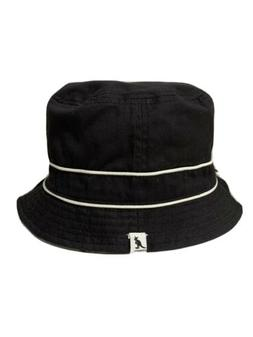 Authentic Kangol Black White Reversible Bucket Hat Beach Siz