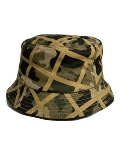 Authentic Kangol Green White Camo Check Bucket Size S Small