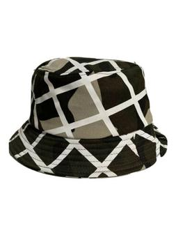 Authentic Kangol Green White Camo Check Bucket Size M Medium