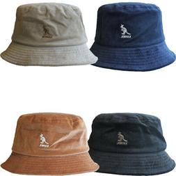Authentic Kangol K4228HT Corduroy Cord Bucket Hat Cap Black