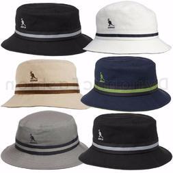 Authentic KANGOL Stripe Lahinch Bucket 100% Cotton Cap Hat S