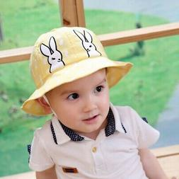 Autumn Baby Boys Girls Toddler Cartoon Bucket Hats Caps UV P