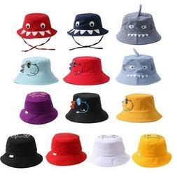 Baby Boy Girls Cartoon Shark Bucket Hats Toddler Fish Caps R