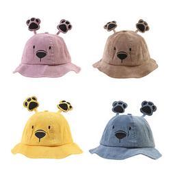 baby boys girl toddler cartoon bucket hats