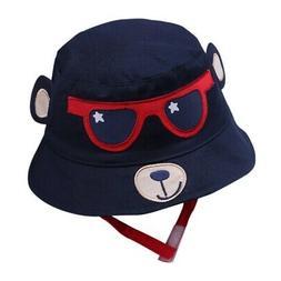 Baby Boys Girls Toddler Cartoon Printed Bucket Hats Caps Rev