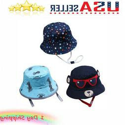 Baby Boys Girls Toddler Cartoon Printed Bucket Hats Cap Reve