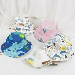 Baby Boys Girls Toddler Cartoon Printed Bucket Hats Cap Sun