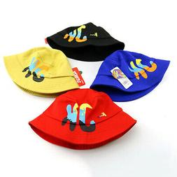 Baby Boys Girls Toddler Letter Print Bucket Hats Caps Revers