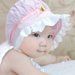 Baby Girls Outdoor Flower lace bucket Hats princess Sun Beac