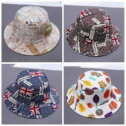 Baby Girls Toddler Summer Bucket Hats Caps Reversible Sun He