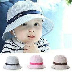 Baby Kids Summer Sun Cap Infant Boys Girls Beach  Bucket Hat