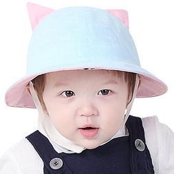 baby s foldable cat ear sun hat