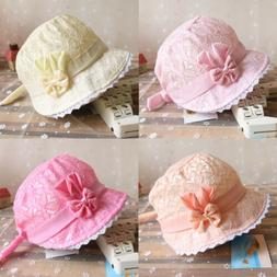 baby summer lace hollow hat princess girls