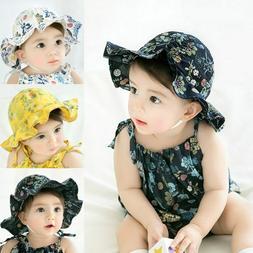 Baby Sun Caps Infant Bowknot Flower Hat Bucket Hat Newborn K